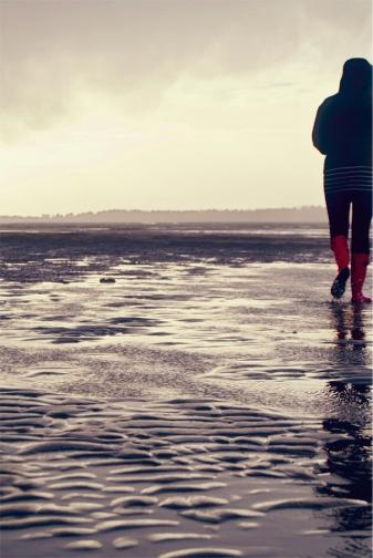 Amanda takes a stroll.